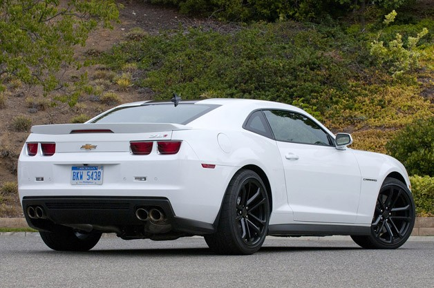 2012 Chevrolet Camaro ZL1 rear 3/4 view