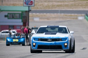 2012 Chevrolet Camaro ZL1 on track