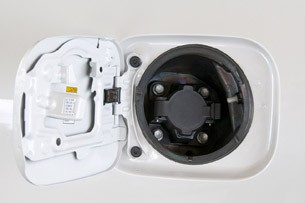 2013 Toyota RAV4 EV charging port