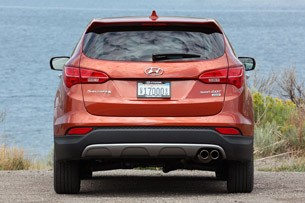 2013 Hyundai Santa Fe Sport rear view