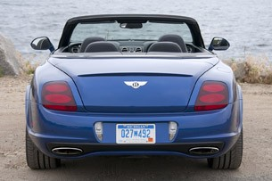 2012 Bentley Continental Supersports Convertible rear view