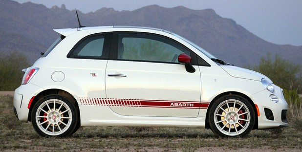 2012 Fiat 500 Abarth side view