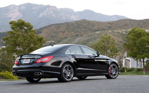 2012 Mercedes-Benz CLS63 AMG rear 3/4 view