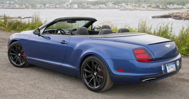 2012 Bentley Continental Supersports Convertible rear 3/4 view
