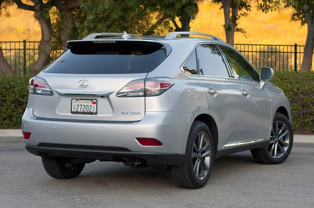 2013 Lexus RX 350 F Sport rear 3/4 view