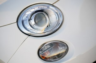 2012 Fiat 500 Abarth headlight