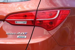 2013 Hyundai Santa Fe Sport taillight