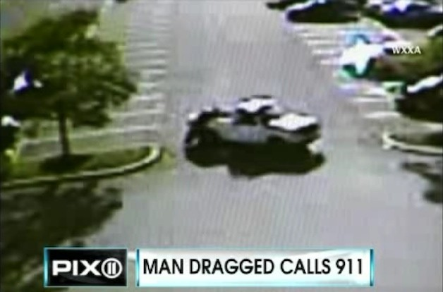 Man dragged by pickup truck
