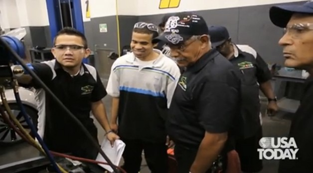 Auto mechanics class - USA Today video screencap