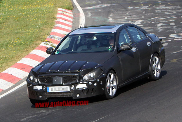 Next-generation Mercedes-Benz C-Class spy shot on 'Ring