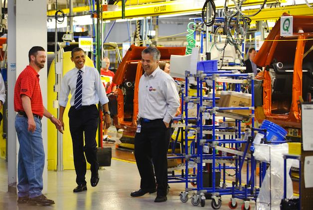 President Obama at car factory