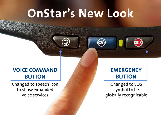 General Motors OnStar rearview mirror controls