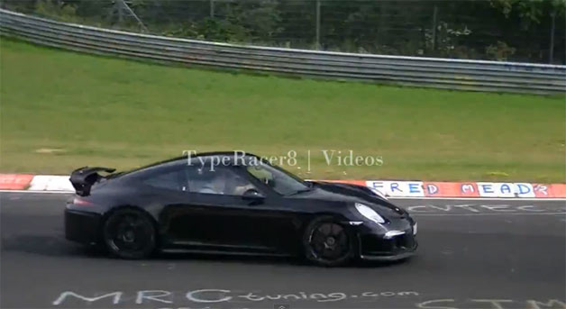 Porsche 911 GT3 testing on 'Ring - video screencap