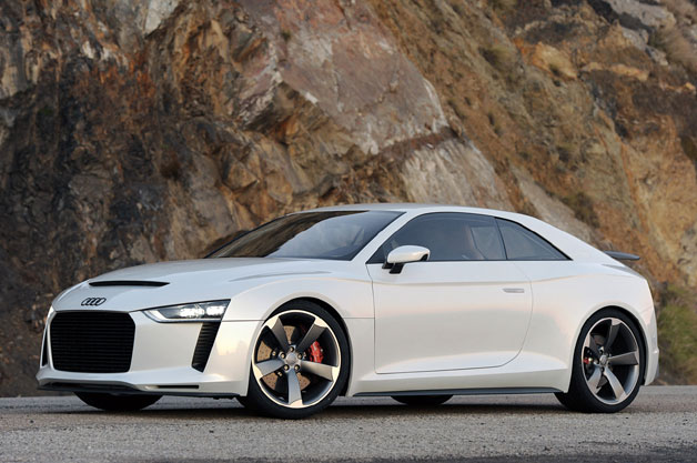 Audi Quattro concept - front three-quarter static view