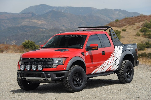Greg Biffle Roush F-150 SVT Raptor - front three-quarter view, static