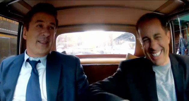 Alec Baldwin (left) and Jerry Seinfeld (right) in Mercedes-Benz 280SL