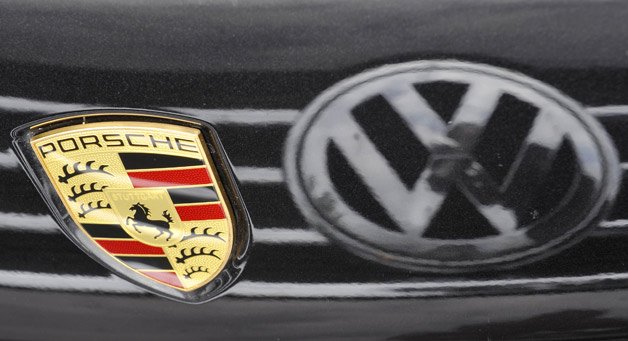 VW and Porsche logos