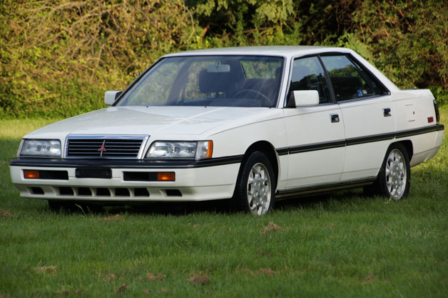 1988 Mitsubishi Galant Sigma - white - front three-quarter view