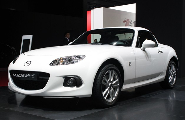 2013 Mazda MX-5 Miata live on the show floor at the 2012 Paris Motor Show