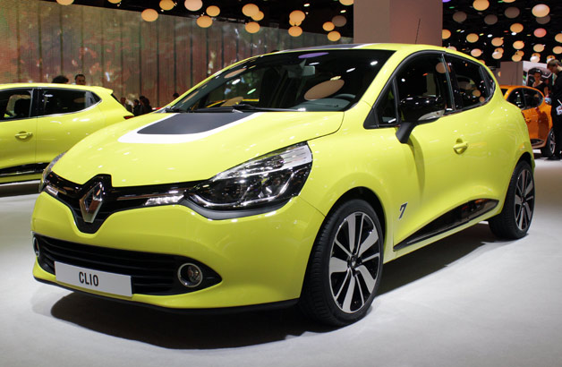 2013 Renault Clio live on show floor at Paris