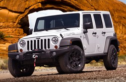 2013 Jeep Wrangler Moab - front three-quarter view