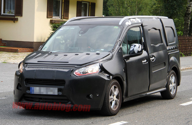 Ford Transit Connect spy shots