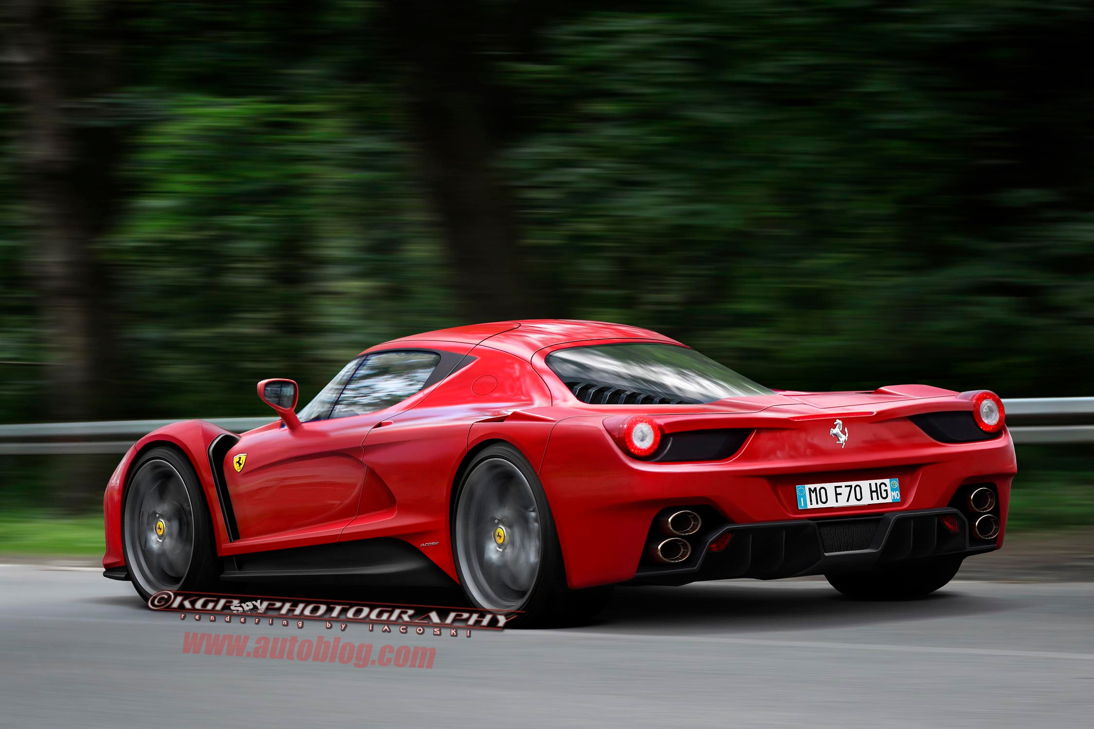 this is what the ferrari f70 might really look like   autoblog