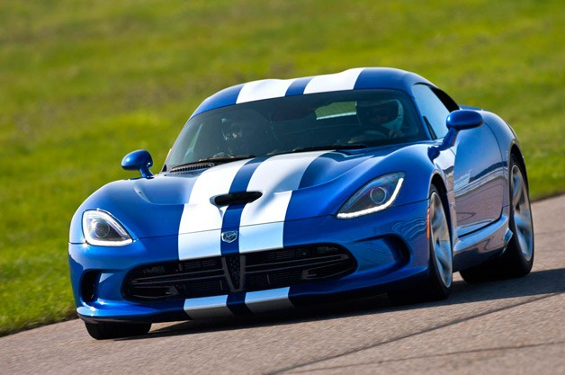 2013 SRT Viper - Blue with white stripes