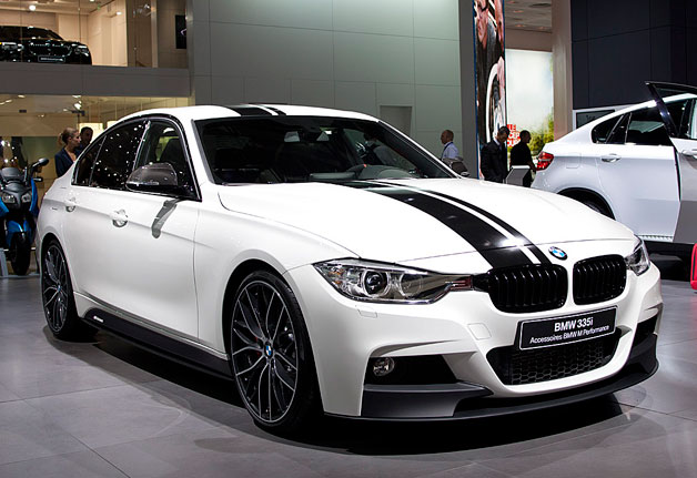 BMW 335i with M Performance accessories - Live on show floor at 2012 Paris Motor Show