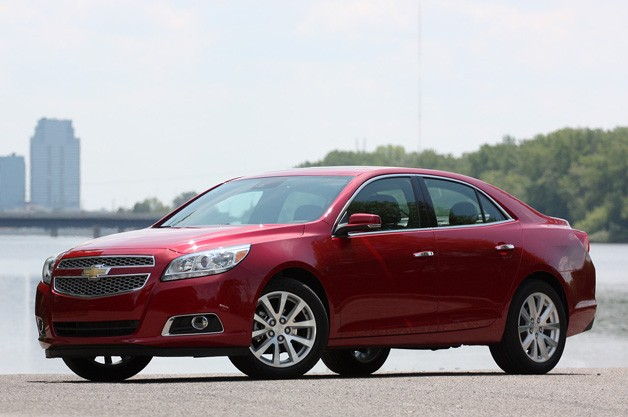 2013 Chevrolet Malibu - front three-quarter view, maroon