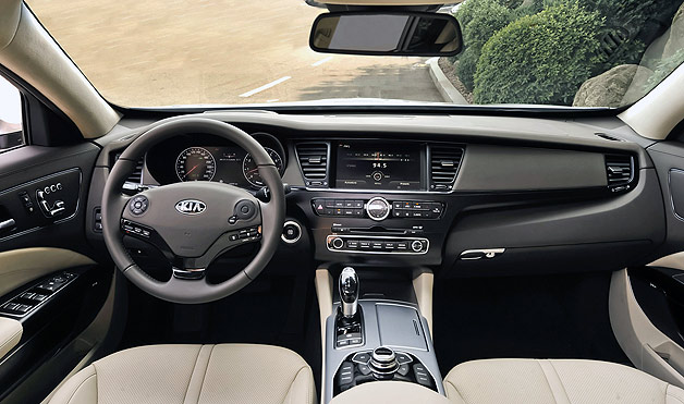 Kia gives a closer look at Quoris interior