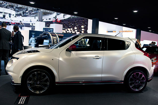 2013 Nissan Juke Nismo - profile - live on show floor at 2012 Paris Motor Show
