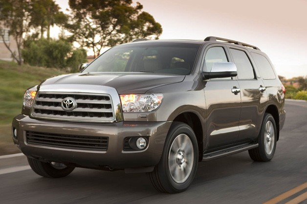 2013 Toyota Sequoia - front three-quarter view, dynamic