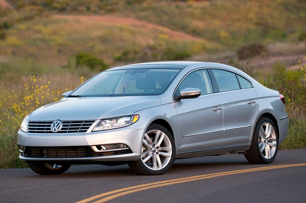 2013 Volkswagen CC - front three-quarter view, silver