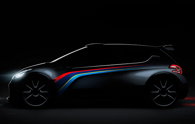 cyrenepenya official peugeot teases paris bound 208 type r5 rally car