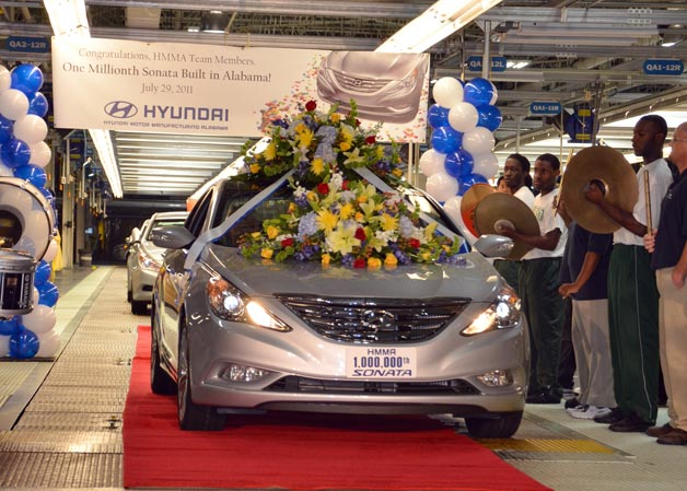 Hyundai Sonata production in Alabama