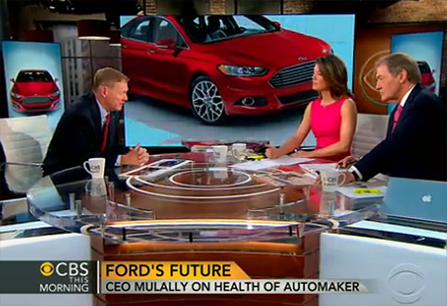 Ford CEO Alan Mulally on CBS This Morning