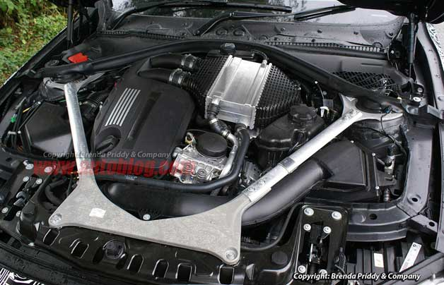 2014 BMW M3 engine spy shot