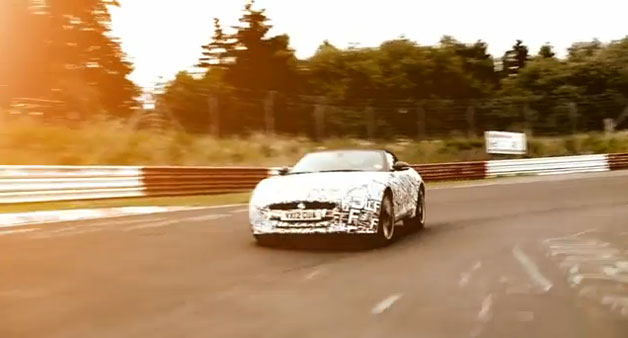 Jaguar F-Type at Nardo and the 'Ring - screencap