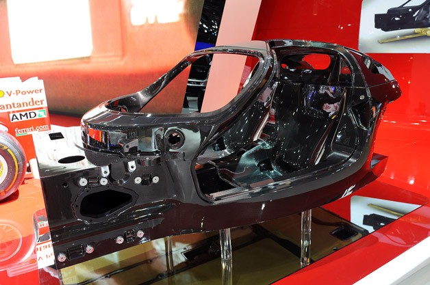 Ferrari F70 (Enzo successor) bare chassis revealed at 2012 Paris Motor Show