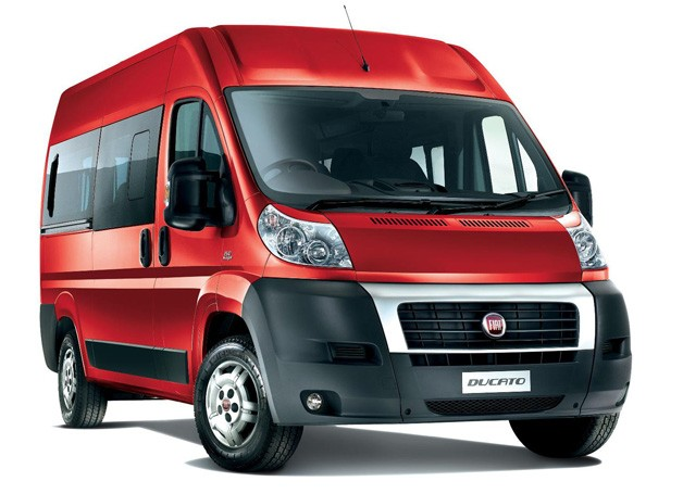 Fiat Ducato van - red - front three-quarter view