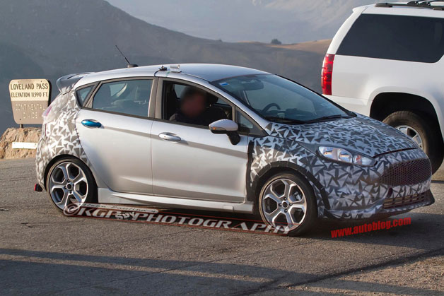 2014 Ford Fiesta ST spy shot - disguised
