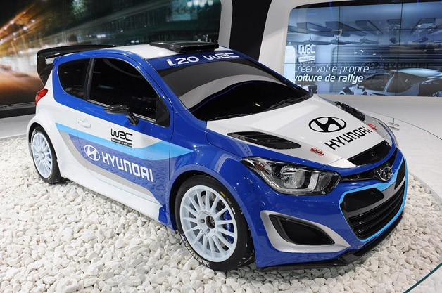 Hyundai i20 WRC - live at 2012 Paris Motor Show debut