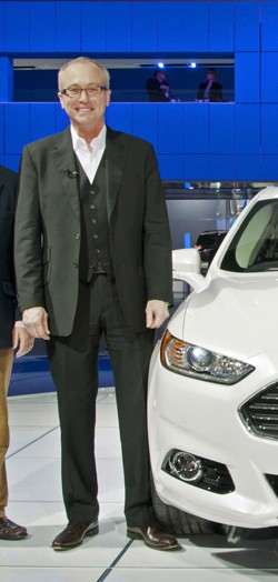 Ford designer J Mays with 2013 Fusion