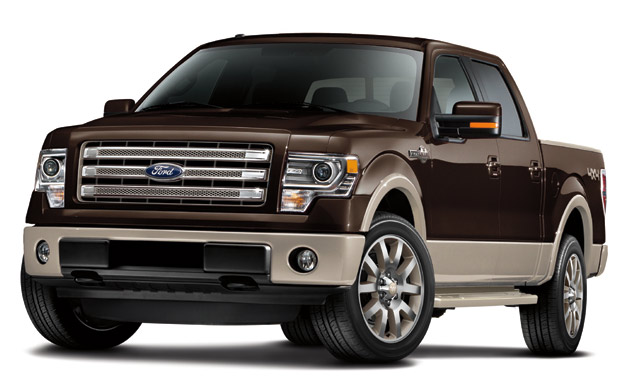 2013 Ford F-150 King Ranch - front three-quarter studio view