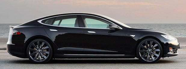 2012 Tesla Model S side view