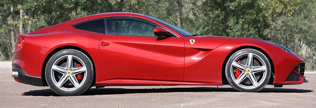 2013 Ferrari F12 Berlinetta side view