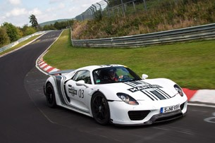 2014 Porsche 918 Spyder driving