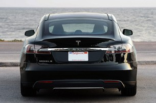 2012 Tesla Model S rear view