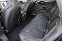 2012 Tesla Model S rear seats